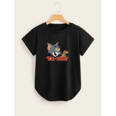 Tom & Jerry Printed T-Shirt...