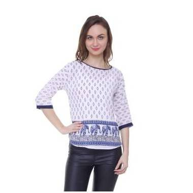 Plain Elephant Print Top (1...