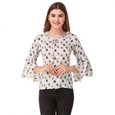 Flower Neck Top