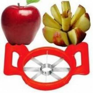 Red Plastic Apple Cutter