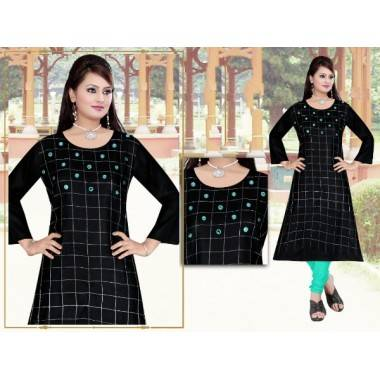 Fabric Rayon Long Kurti