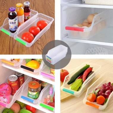 Fridge Storage Basket Shelf...
