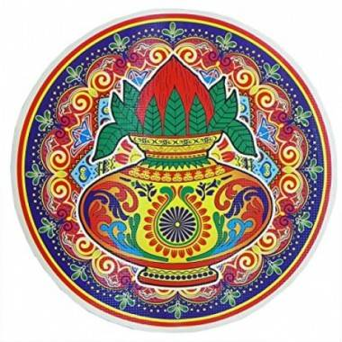 Rangoli Coconut Sticker (1...