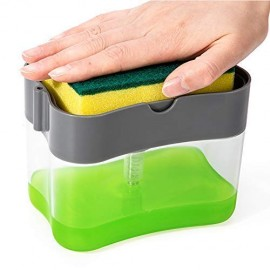 Kitchen Dishwashing Brush Plastic Kitchen Sink Storage Box Tray Sponge Soap Dispenser Kitchen Dishwasher Automatic Brush