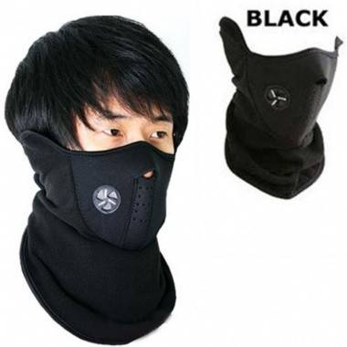 Black Bike Face Mask for...
