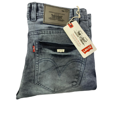 Levis Dusted Blue Black Jeans