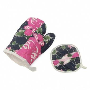 Heat proof cotton oven gloves