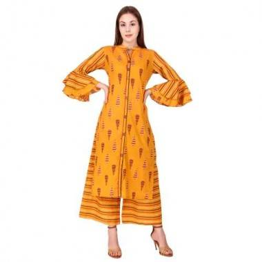Yellow Frill Cotton Set