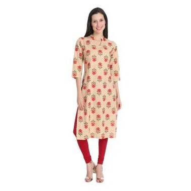 Mastard Colour Cotton Kurti...
